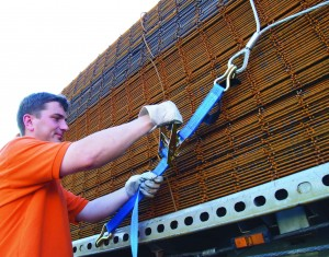 Load securing system for B.R.C. fabric 2